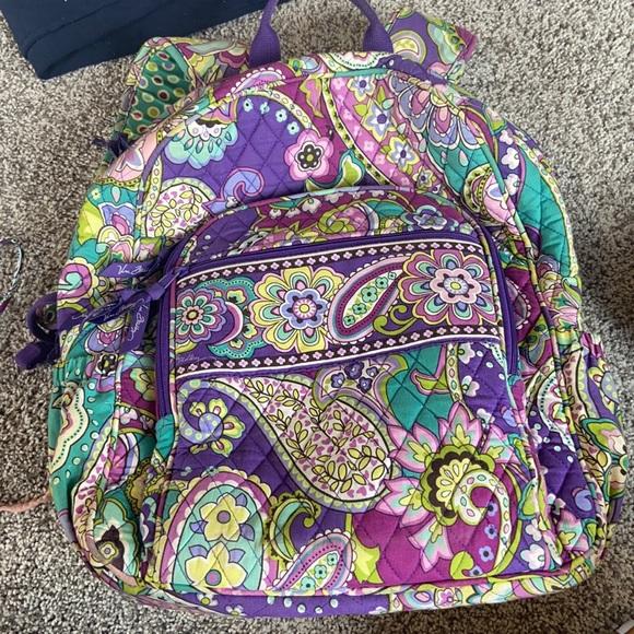 vera bradley HEATHER campus backpack